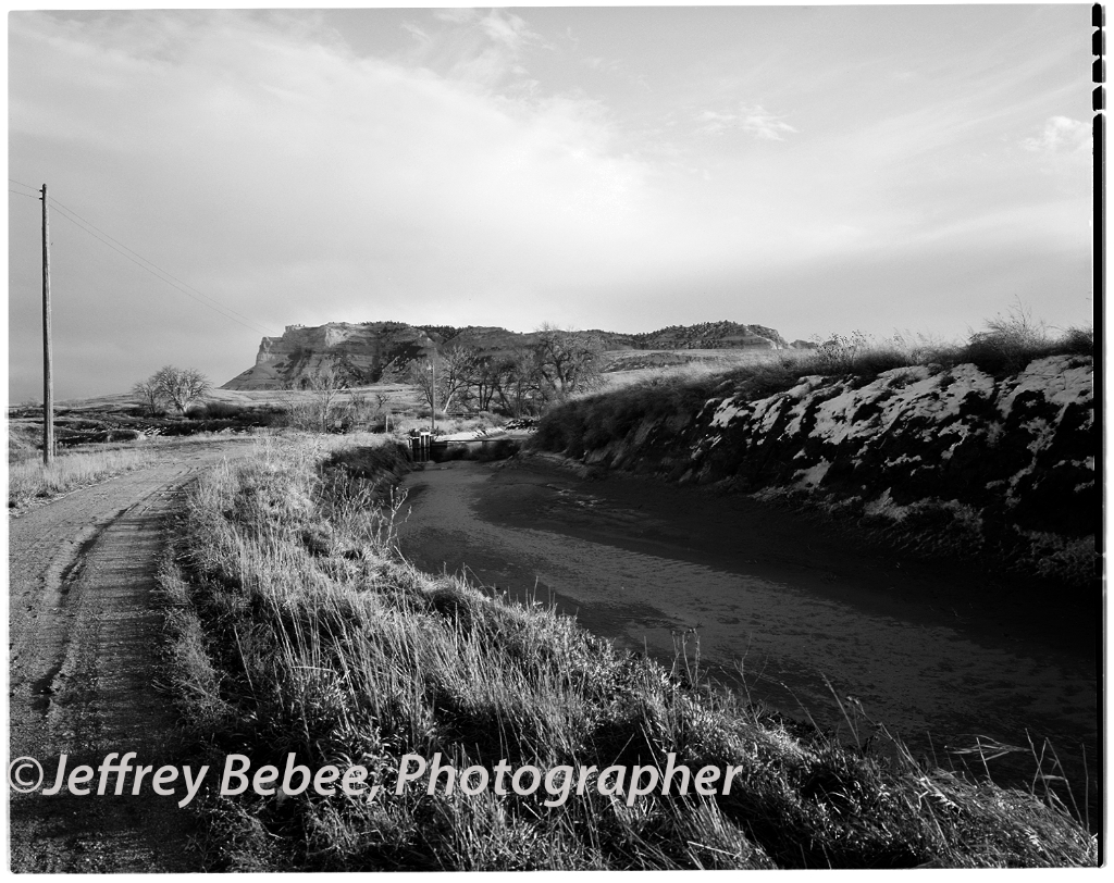 Gering Canal.  Scotts Bluff National Monument