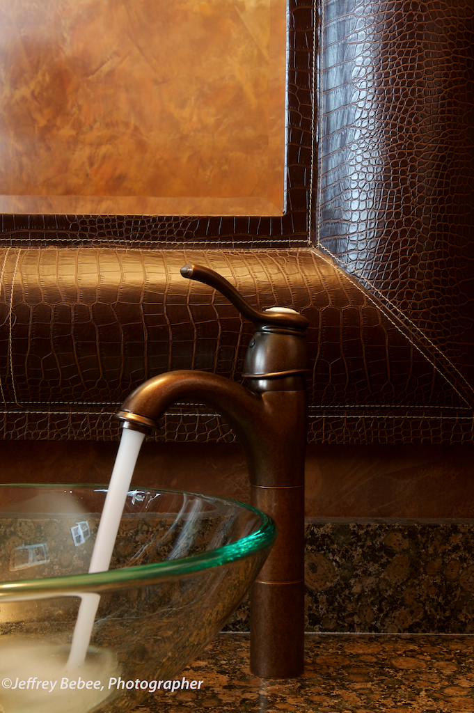 Powder Room faucet detail