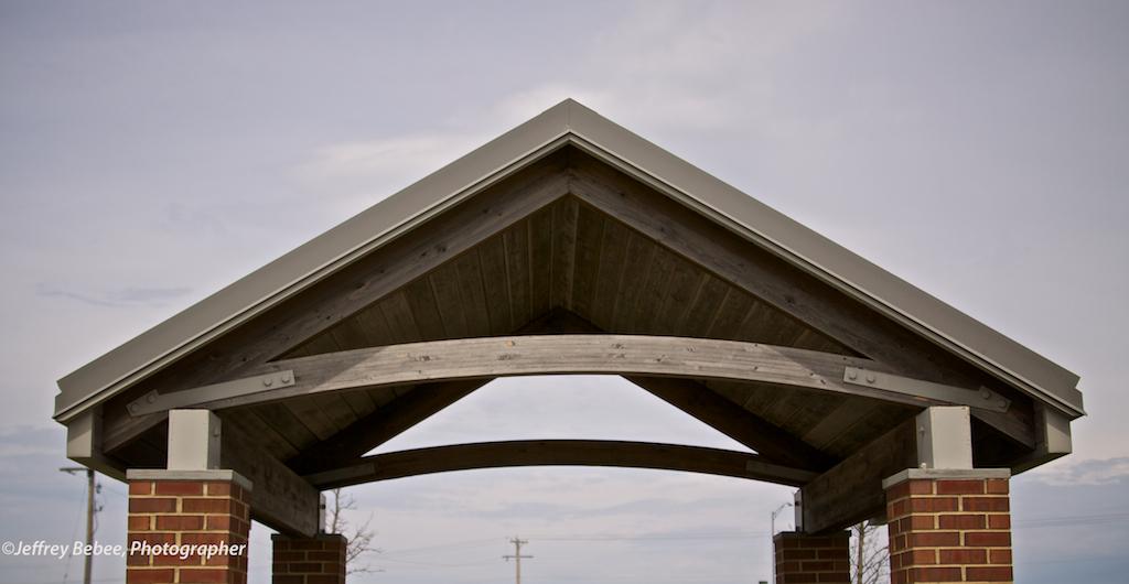 Shelter detail, Iowa Rest Stop