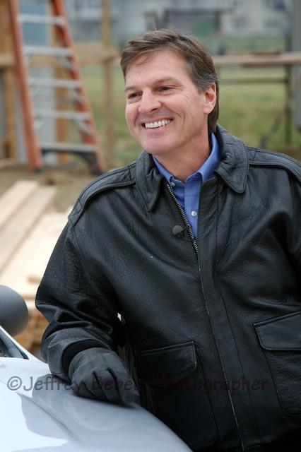 Builder construction site Portrait