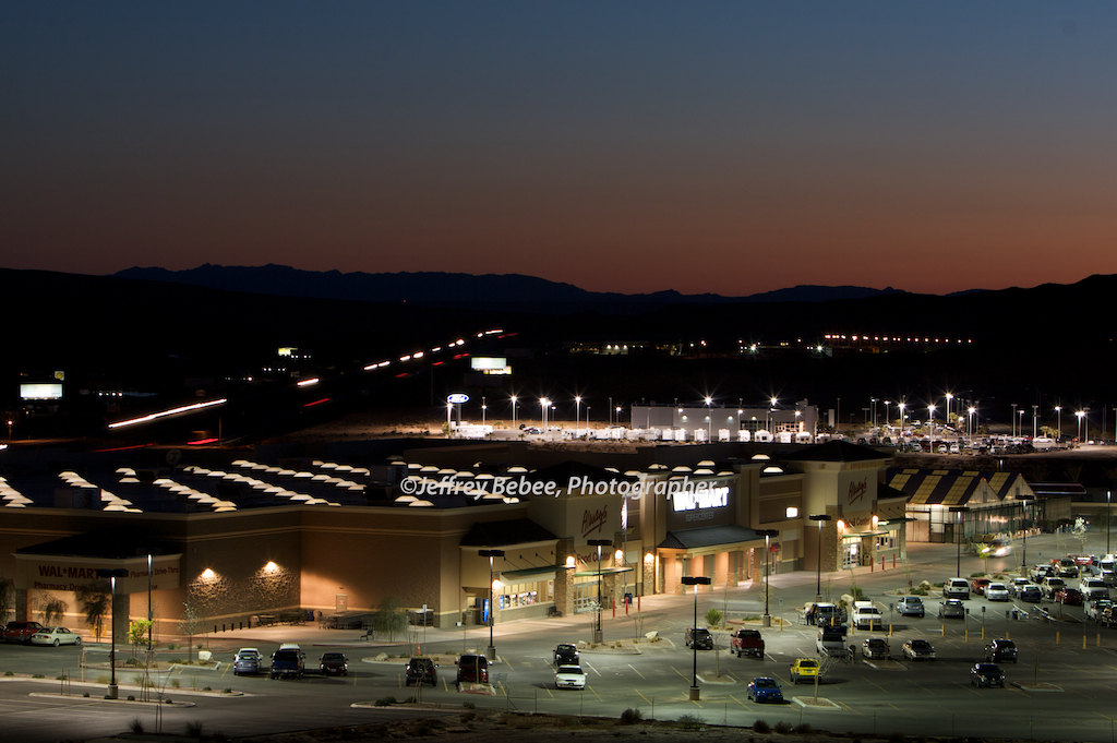 Nevada sunset over Wal-Mart